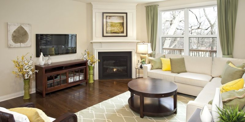 Small living room with fireplace decorating