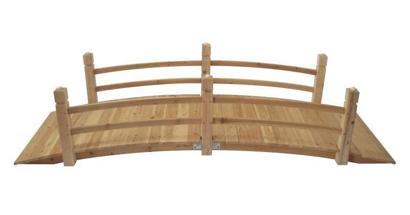 Stonegate designs wooden garden bridge