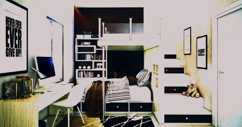 Teenage Loft bedroom designs