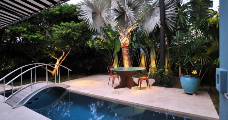 Tropical plants for outside garden