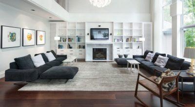 White Family Room Decorating