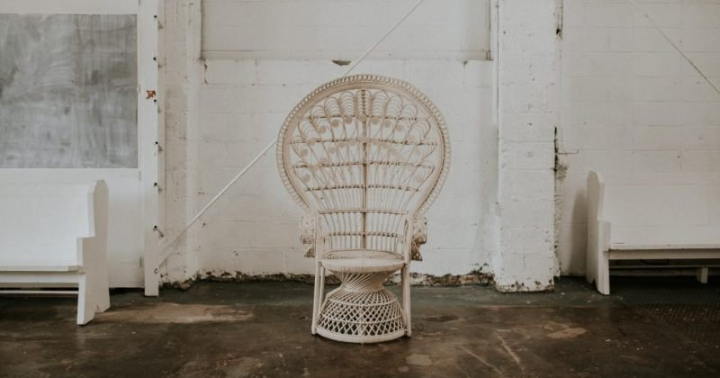 White peacock chair hire auckland