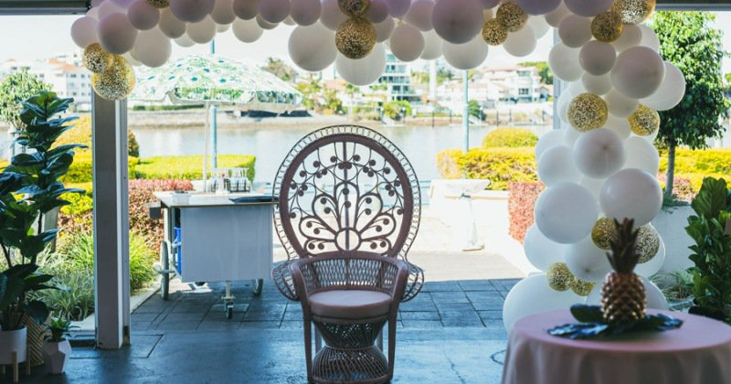 White peacock chair hire brisbane