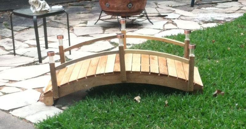 Wooden bridge for garden