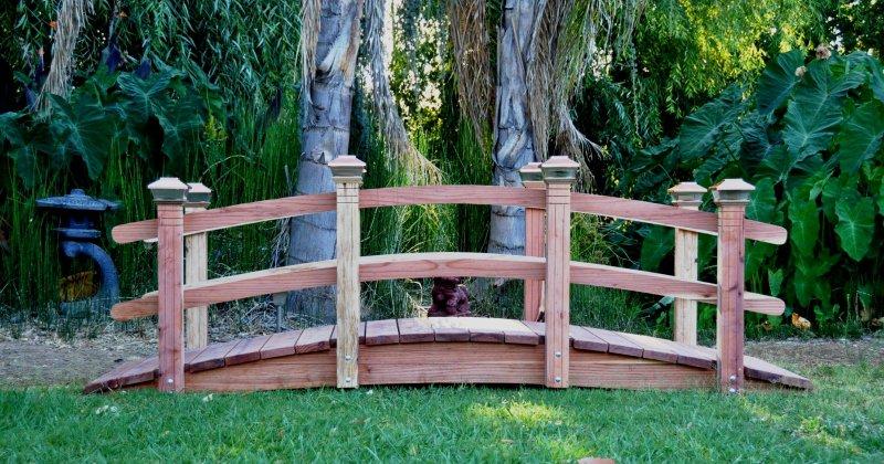 Wooden garden bridge for sale
