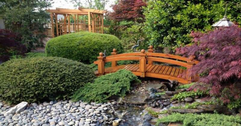 Wooden garden bridge kits