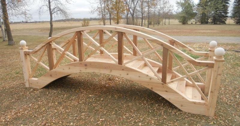 Wooden garden bridge plans