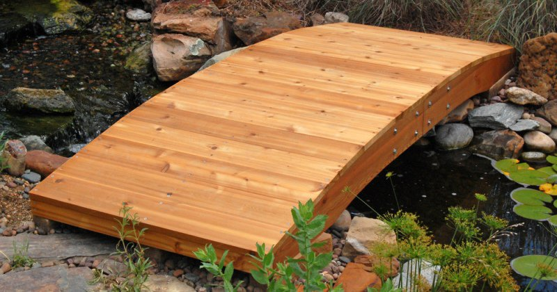 Wooden garden bridge wanted