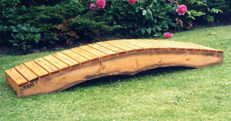 Wooden garden bridges for sale