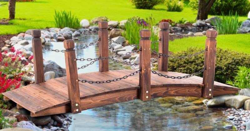 wooden bridge for the garden