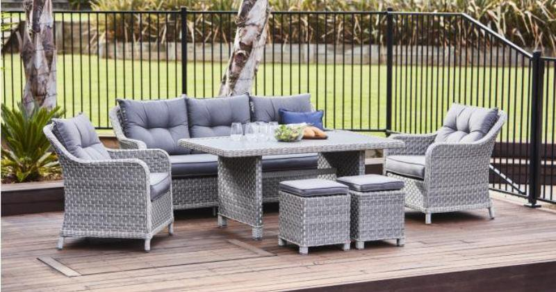 6 piece outdoor dining set with bench