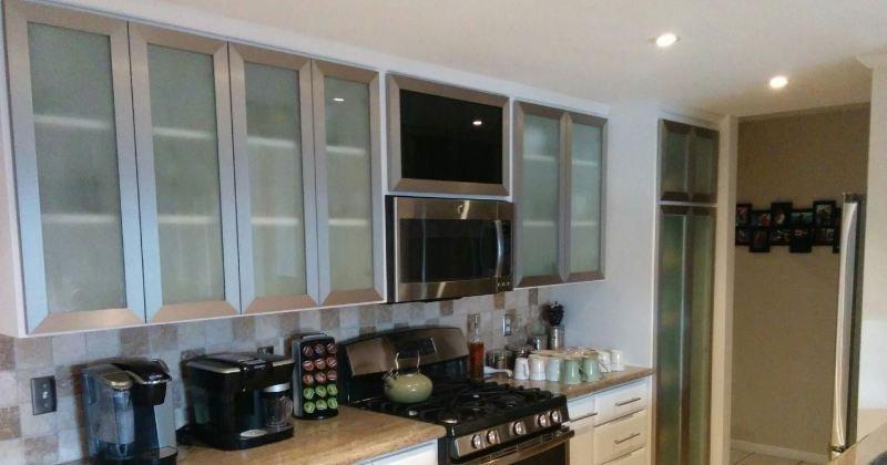Aluminum glass cabinet design