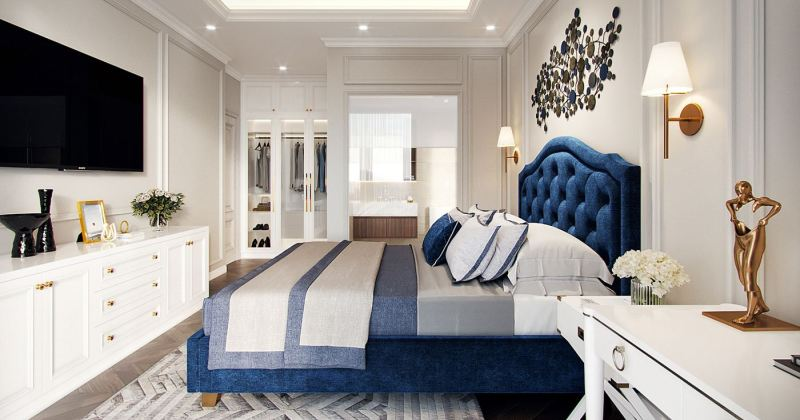 American classic bedroom design