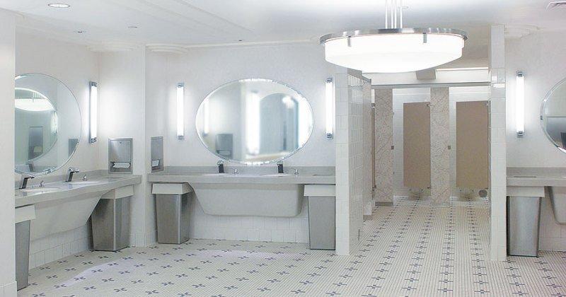Bathroom design clearances