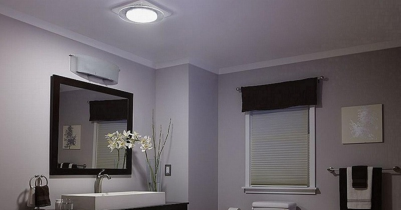 Bathroom lighting with fan