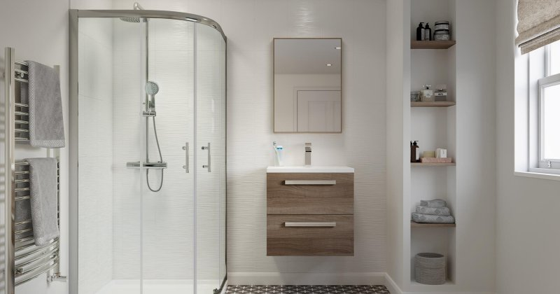 Bathtub with shower enclosure