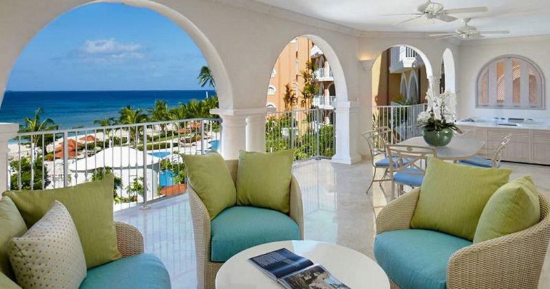Beachfront apartment barbados