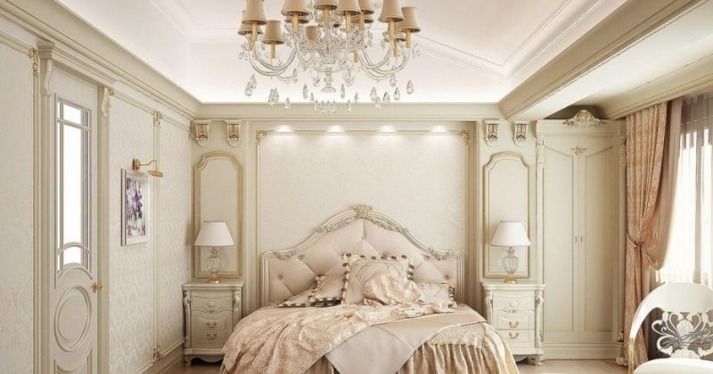 Bedroom chandelier lighting centre