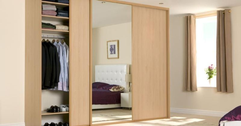 Bedroom cupboard designs with mirror
