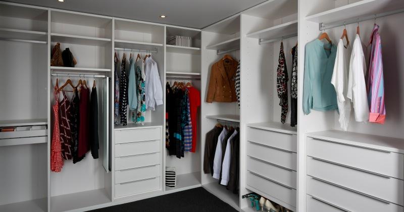 Bedroom cupboard storage