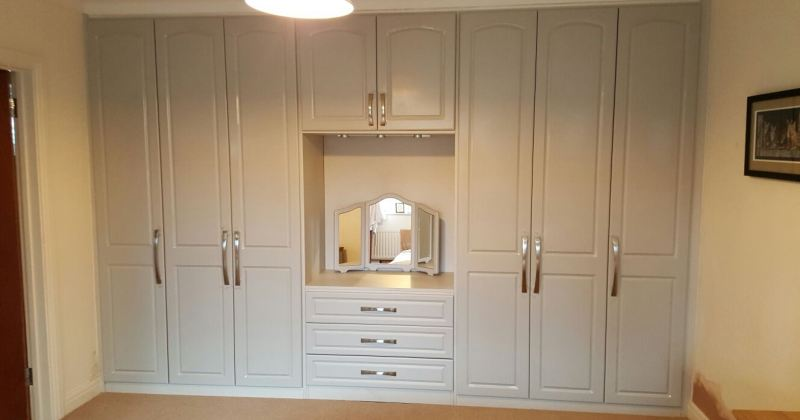 Bedroom cupboard with dressing table