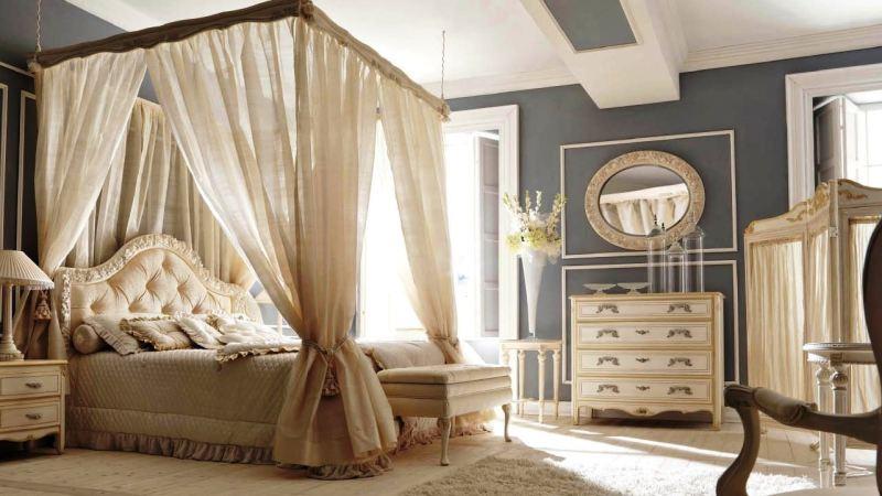 Bedroom design in classic style