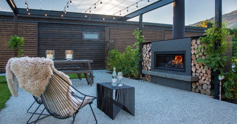 Best outdoor fireplace with chimney