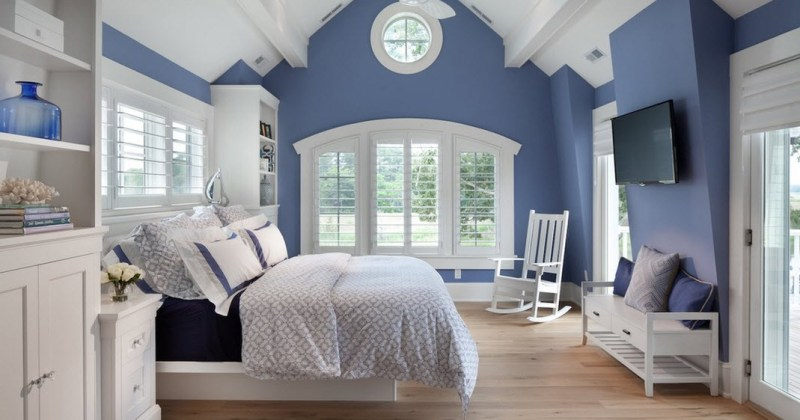 Blue and white bedroom images