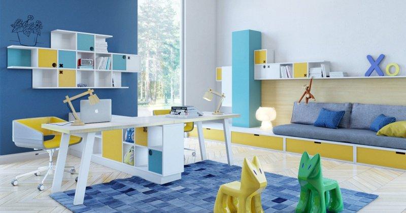 Blue children's room design