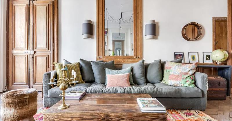 Boho chic couch