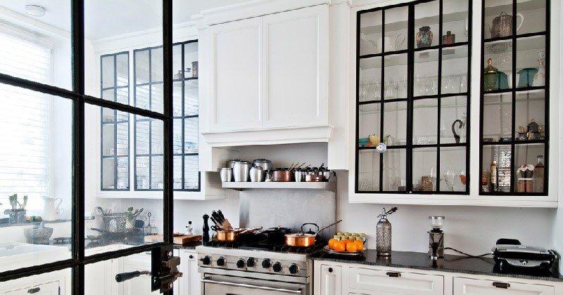 Cabinets glass door designs