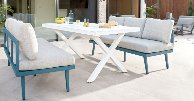 Casuarina timber wooden outdoor furniture bench dining set