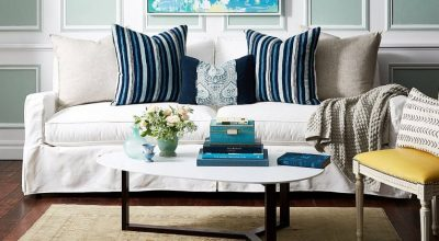 Chic Couch and Pillow