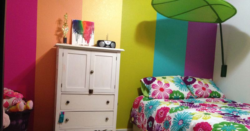 Childrens rainbow room decor