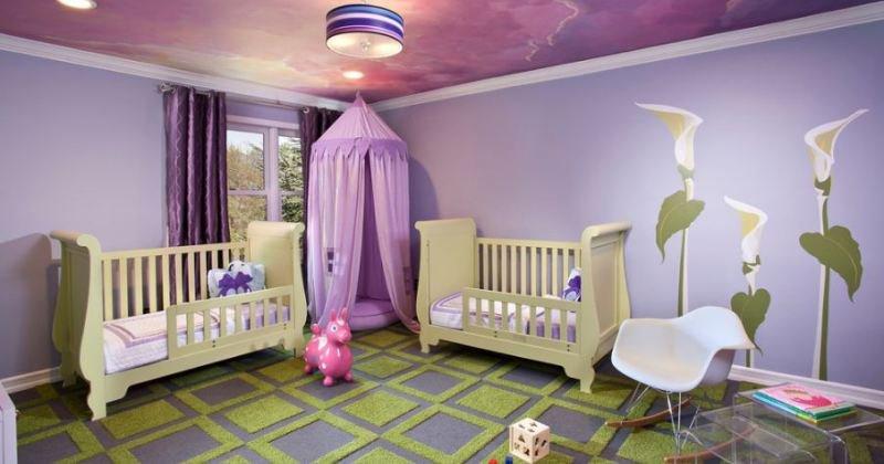 Children's room ceiling decor