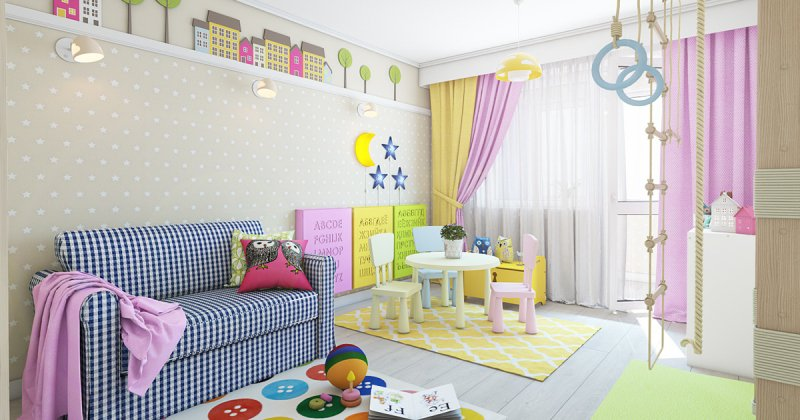 Childrens room wall decor