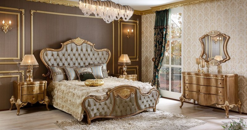 Classic elegant bedroom design