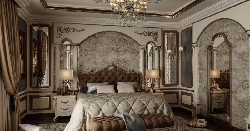 Classic master bedroom design