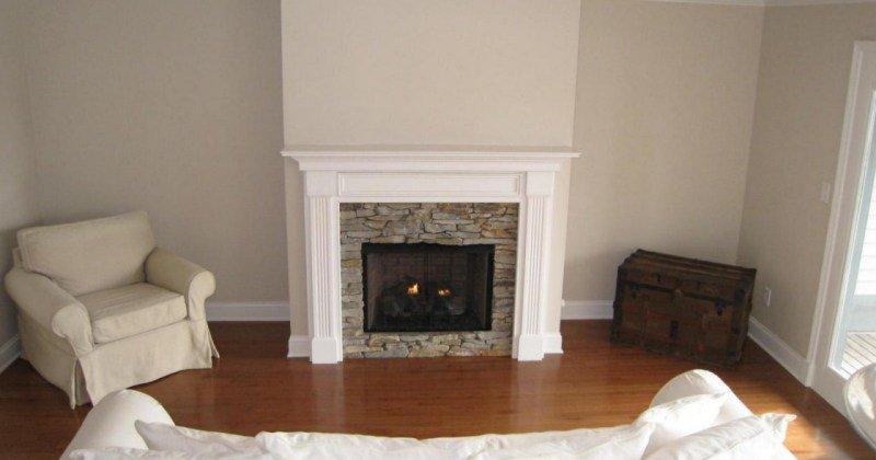 Classic wood fireplace mantels