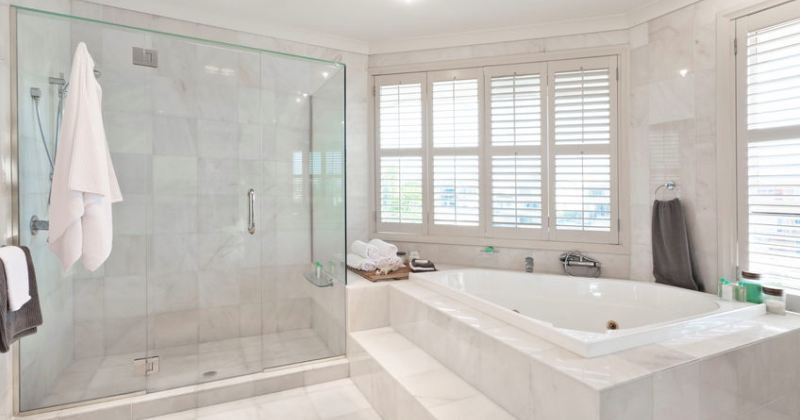 Clean bathroom tile designs