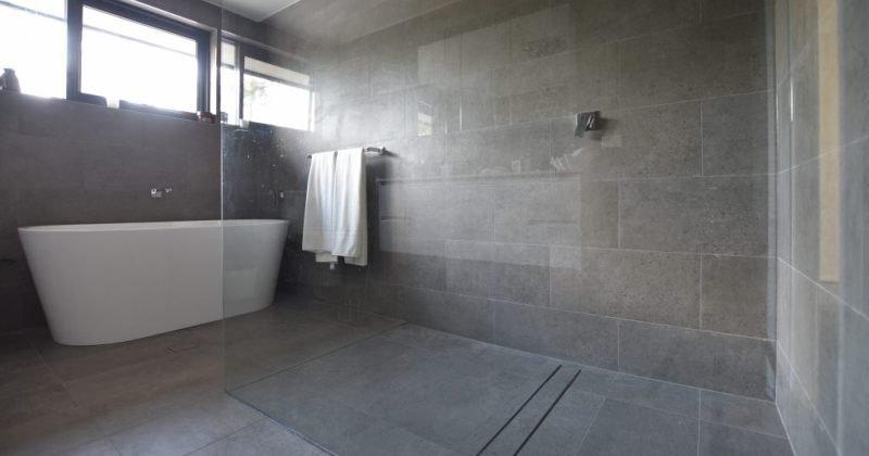 Clean lined bathroom designs