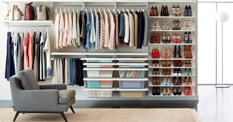 Closet drawers organizer