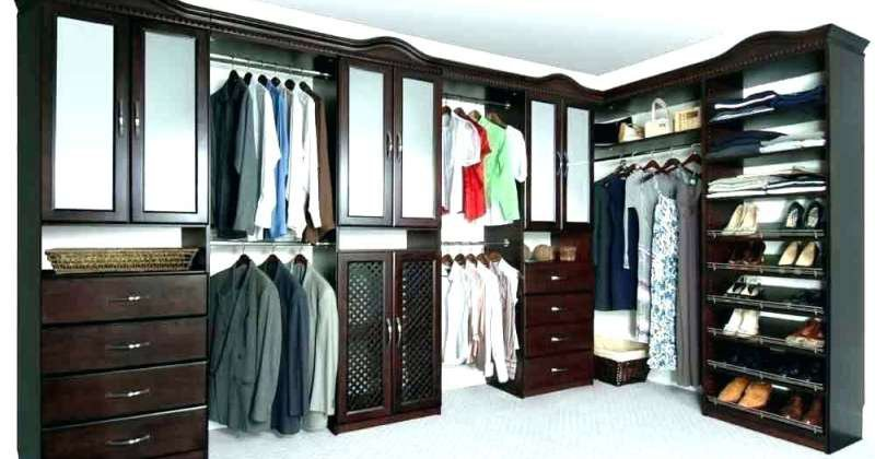 Closet organizers with drawers