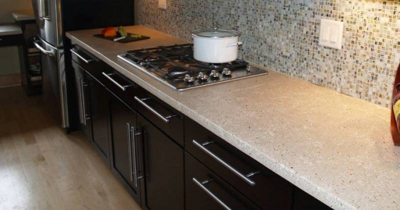 Concrete for kitchen countertops