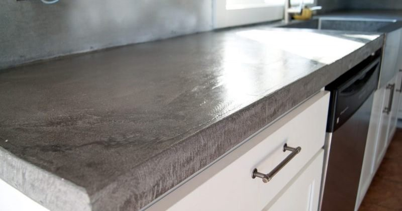 Concrete kitchen countertop diy