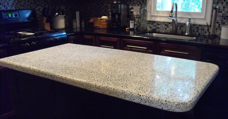 Concrete kitchen countertop sealer