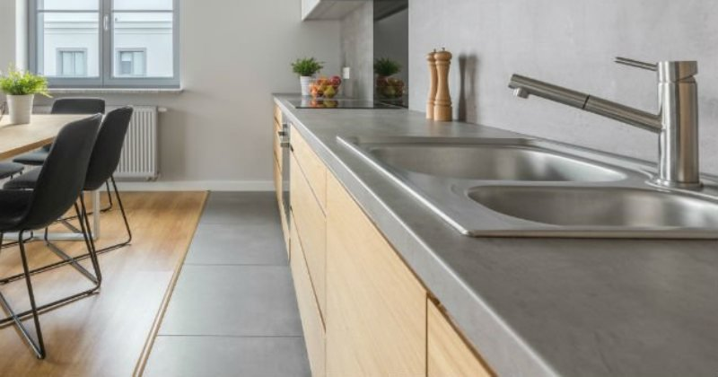 Concrete kitchen countertops diy