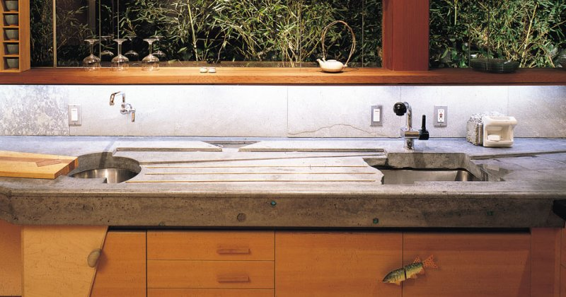 Concrete kitchen countertops pictures