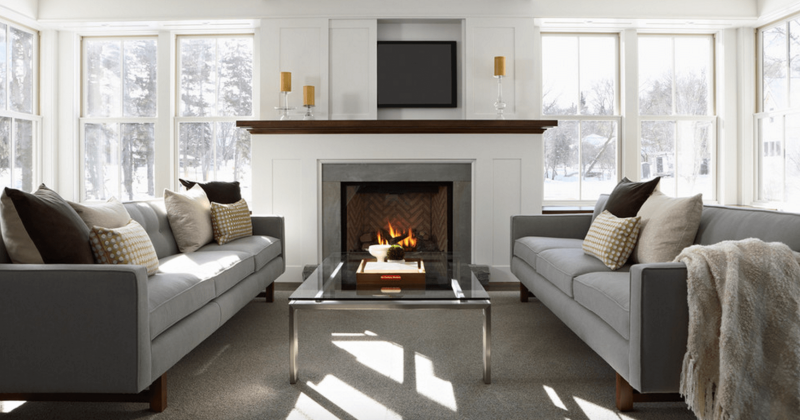 Contemporary fireplace mantels with tv