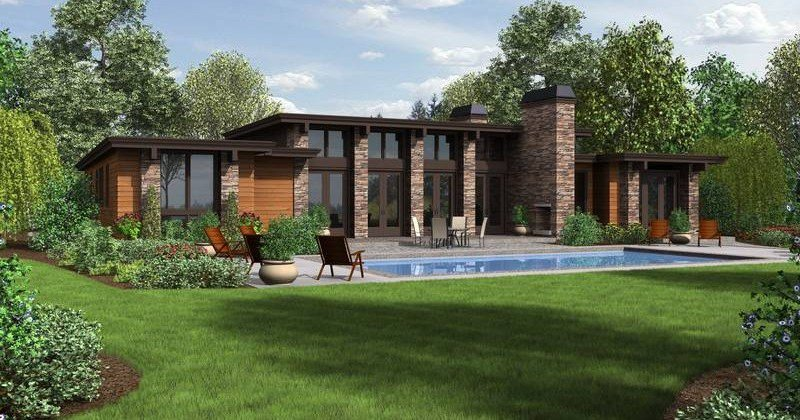 Contemporary house plans ranch